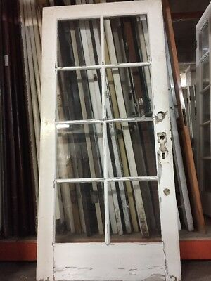 "French door Old Exterior Interior Single French Door77-1/2"" X 36 antique"