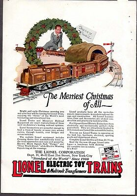 """Lionel Print Ad from 1923 - """"The Merriest Christmas of All~"""""""
