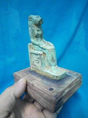 Rare Ancient Egyptian  SEKHMET  master of battles and wars (300-1000 BC)