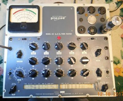 Partially Working Vintage Precise 111 Mutual Conductance Tube Tester