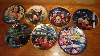 lot of (7) Star Trek:( The Final Frontier) Collector Plates Hamilton Collection