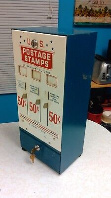 Vintage 3 Slot 50 Cent Pull-Tab / U.s. Postage Stamp Vending Machine