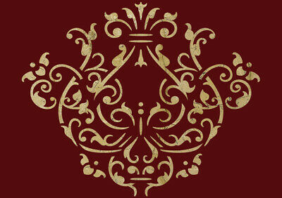 Floral Stencil Vintage Template Card making Paint Furniture Home Decor Art FL12