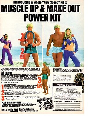 Vintage 1975 Muscle Up & Make Out Power Kit Magazine Print Ad