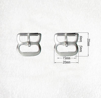 Plain Rounded Dee Shape Silver Buckles for 15mm straps
