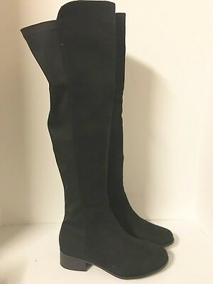 3258733316f NEW! Women s Truffle Collection Elastic Flat Over Knee Boots - Size  UK 7