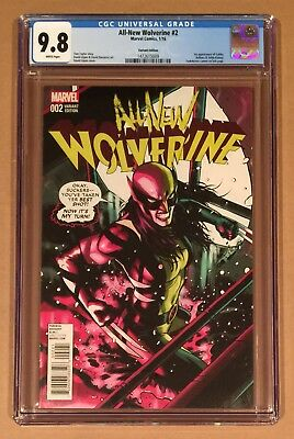 ALL-NEW WOLVERINE #2 • CGC 9.8 • 1:25 LOPEZ VARIANT • 1st APPEARANCE GABBY