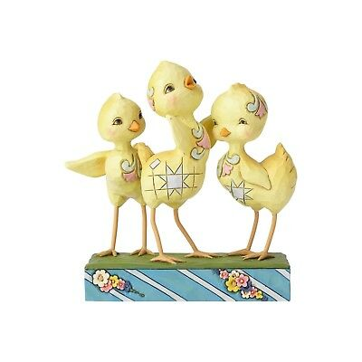 Jim Shore Heartwood Creek Trio of Chicks Hooray For Spring NEW 6001077 Easter