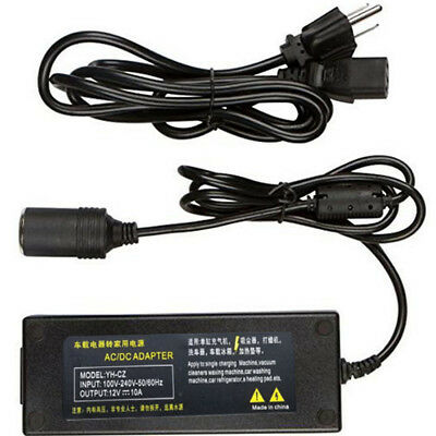 AC- DC Power Converter Car Cigarette Lighter Charger Adapter Power Cord(US Plug)