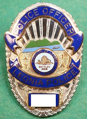 Obsolete Leonia Nj Bergen County Nj Police Badge Complies With Ebay Rules