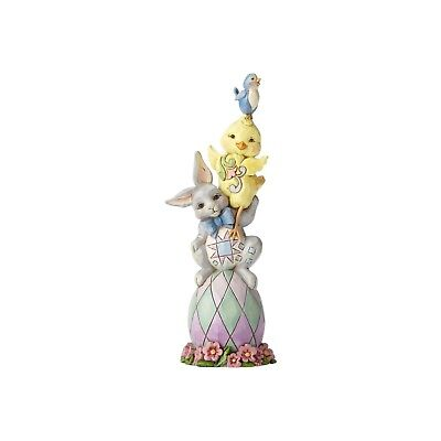 Jim Shore Heartwood Creek Pint Sized Easter Stack Egg-stra Dose of Cute 6001078