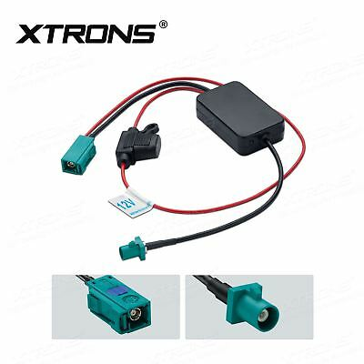 Xtrons Fakra Aerial Antenna Car Stereo Fm & Am Radio Signal Booster Amplifier
