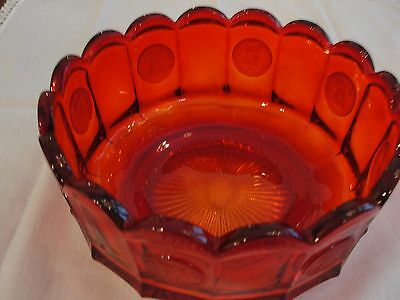 """Fostoria Coin Red Bowl Vintage 7.5"""" (Two available)"""