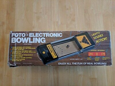 Foto-Electronic Bowling Game by Cadaco 1978