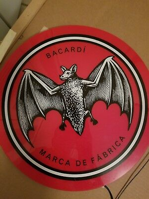 Bacardi led sign- Red, White and black entire set of plugs
