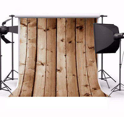 8x8FT Retro Wooden Wall Photography Background Vinyl Studio Photo Backdrop Props