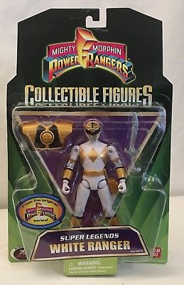 Mighty Morphin Power Rangers White Ranger Super Legends Tommy New Action Figure