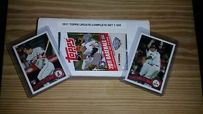 2011 Topps Update Complete Set (1-330) Trout #US175,Altuve #US132 RC