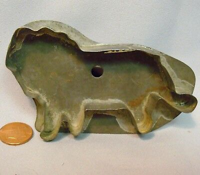 "Antique Lion Cookie Cutter Flat Back Metal With Handle Makes 4 1/4"" Long Cookie"