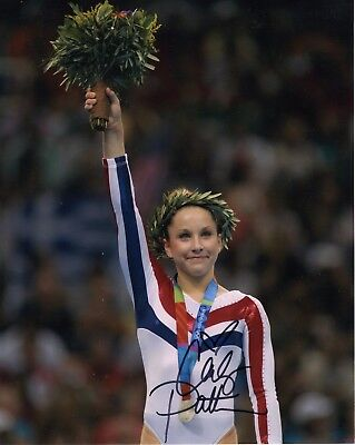 CARLY PATTERSON autographed 8x10 color photo      GOLD MEDAL     OLYMPIC GYMNAST