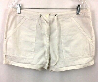 Pre-owned Motherhood White Maternity Shorts Size S Small (B#2)