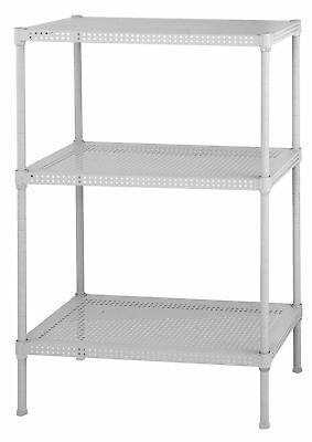 Muscle Rack PWS241228-3W Steel Wire Shelving, 3 Adjustable Shelves, 110 l... New