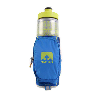 Nathan Quick Draw Plus Insulated Nathan Blue Trinkflasche + Tasche Running