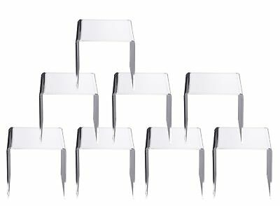 Jusalpha Clear Acrylic Riser Stand Lot of 8 (4x4x4 Inches) 4x4x4 Inches New