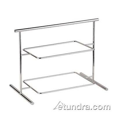 "World Cuisine - 44840-04 - 10 5/8"" x 24 7/8"" 2-Tier Chromed Steel Stand"