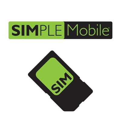 Simple Mobile SIM Card + $50 Plan Month Service Truly Unlimited 4G LTE Preloaded