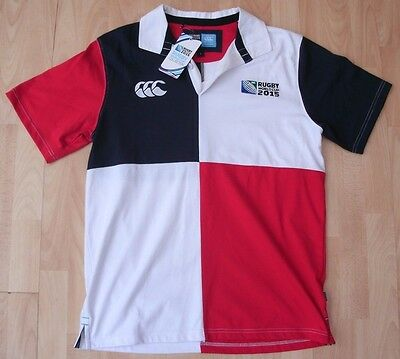 2015 World Cup Canterbury Short Sleeved Rugby Shirt Jersey Top Large Bnwt