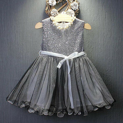Toddler Kids Baby Girls Princess Dress Party Wedding Pageant Tulle Tutu Dresses