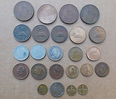 Lot of 24 Mexico coin foreign 1940's -  1960's