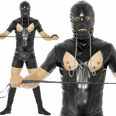 Gimp Fancy Dress Costume Black Bodysuit Stag Do Party Bondage Fetish Outfit