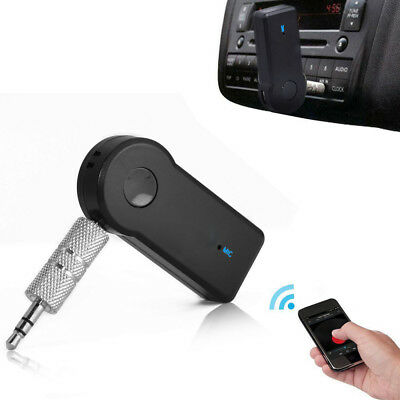 Wireless Bluetooth 3.5mm AUX Audio Stereo Music Home Car Receiver Adapter Mic L8