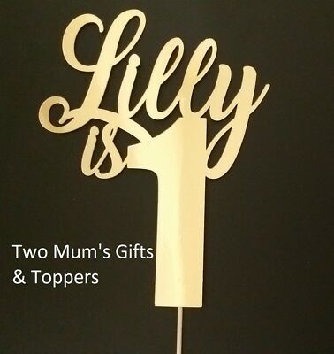 Personalised Custom Party Cake Topper 1st Birthday One 1 - ANY NAME AND AGE