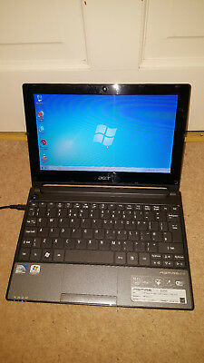 "Acer Aspire One Black D255 Netbook 10.1"" 1GB 250GB Webcam Windows 7 Genuine OS"