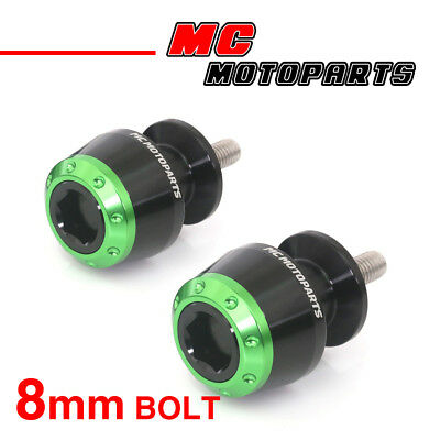 ATOM Green CNC Swingarm Spools Sliders For Kawasaki ZX-6R 636 2013-2017 13 14