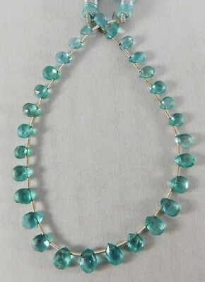 """8"""" Natural Very Classic Apatite Faceted Pear Shape Beads 5-8 mm. IG22-04"""