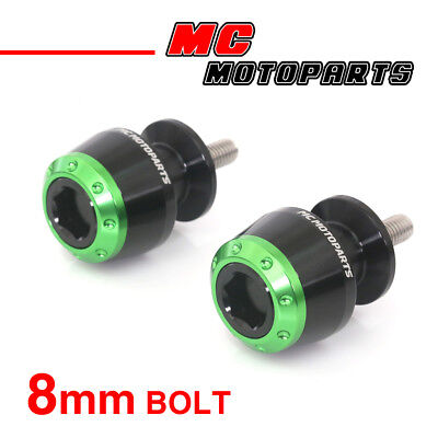 ATOM Green CNC Swingarm Spools Sliders For Kawasaki Ninja 1000 2014-2017 14 15