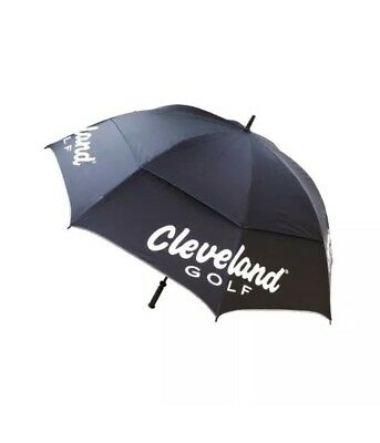 "Cleveland Golf 62"" Tour Umbrella Ladies / Women's. Black Double Canopy"