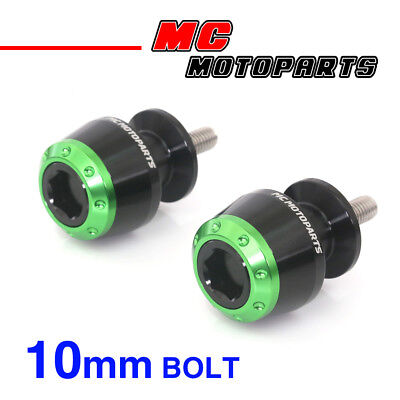 ATOM Green CNC Swingarm Spools Sliders For Kawasaki VERSYS 650 2008-2014 08 09