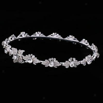 Gorgeous Bridal Crystal Flower Tiara Crown Headdress Headband Hair Accessory