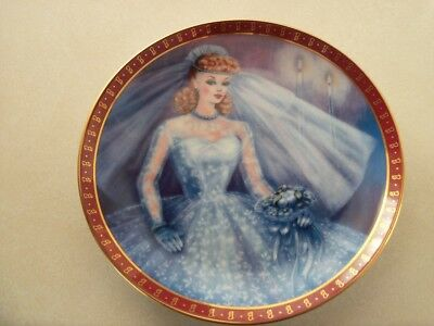 1959 Barbie Bride-To-Be Porcelain Collector Plate by Susie Morton Danbury Mint