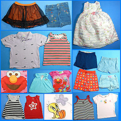15 Piece Lot of Nice Clean Girls Size 4T 4 Spring Summer Everyday Clothes ss183