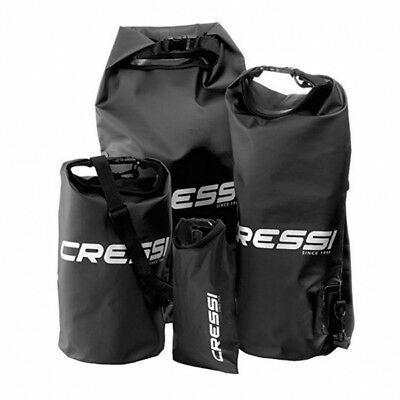 Dry Bag Trockensack Collection von Cressi 2-20 Liter in Schwarz