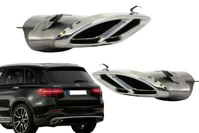 Exhaust Muffler Tips Mercedes GLC X253/C253 GLE C292 W205 C43 AMG Sport Design