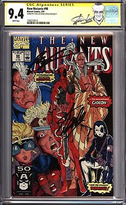 New Mutants #98 CGC 9.4 SS signed by Stan Lee and Rob Liefeld 1583218010
