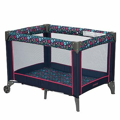 Cosco Funsport Compact Playpen Foldable Portable Infant Play Yard, Flower Garden