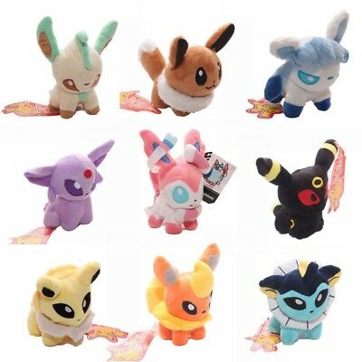 5''Pokemon Plush Toy Doll Eevee Leafeon Umbreon Jolteon Sylveon Collection Gifts